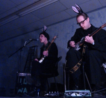 Sister Ray performing at the &Loan Gallery